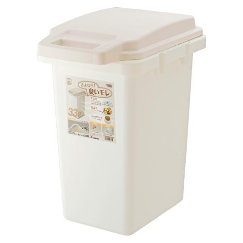 (まとめ) ゴミ箱 リス HOME&HOMEワンハンドパッキンペール ベージュ GBED004 4971881166719 ●外寸:幅319×奥444×高522mm●容量:33l 1個【5×セット】