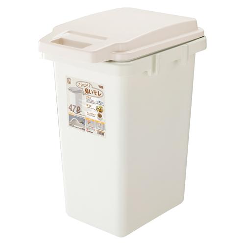 (まとめ) ゴミ箱 リス HOME&HOMEワンハンドパッキンペール ベージュ GBED007 4971881170105 ●外寸:幅341×奥471×高592mm●容量:47l 1個【5×セット】