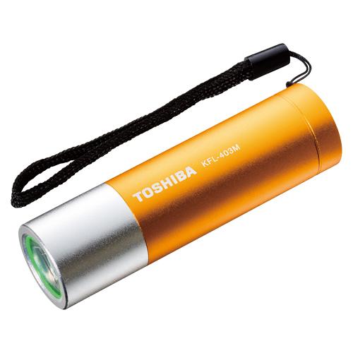 (まとめ) 懐中電灯 東芝 LEDミニカラーライト イエロー KFL-403M(Y) 4904530630583 1個【20×セット】