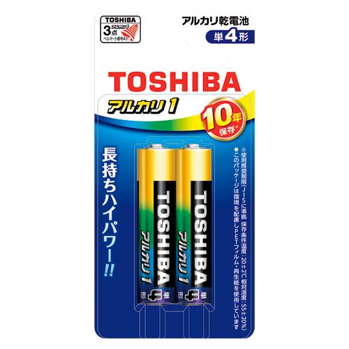 (まとめ) アルカリ乾電池 東芝 アルカリ乾電池アルカリ1 LR03AN 2BP 4904530027512 ●形式:単4形(1.5V) 1個【50×セット】