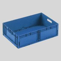(まとめ) 折りたたみコンテナ 岐阜プラスチック工業 折りたたみコンテナーF-Box ダークブルー F-BOX122G1 4938233485782 ●外寸:幅550×奥355×高165mm●容量:26l 1個【5×セット】