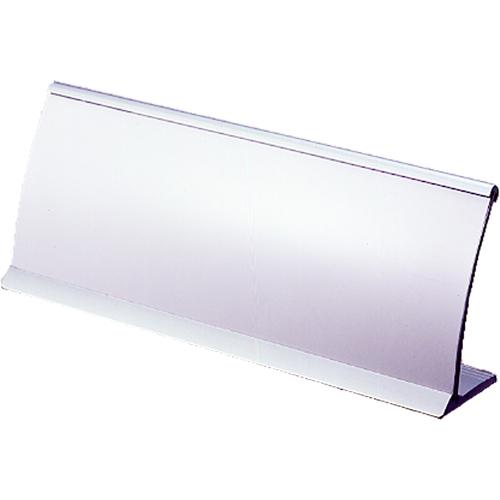 (まとめ) カード立 クラウン R型カード立 シルバー CR-KD21-SL 4953349090644 ●外寸:幅210×高79mm 1個【10×セット】