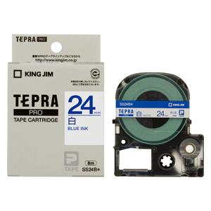 (まとめ) テプラテープ キングジム 「テプラ」PRO SRシリーズ専用テープカートリッジ SS24B 4971660760251 ●24mm幅 1個【10×セット】