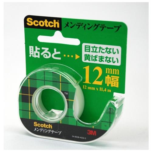 (まとめ) メンディングテープ スリーエム スコッチ[R] メンディングテープ CM-12 4901690516078 ●寸法:幅12mm×長11.4m 1個【100×セット】