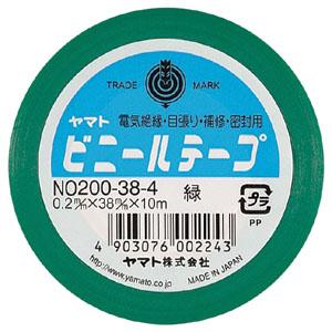 (まとめ) ビニールテープ ヤマト ヤマトビニールテープ 緑 NO200-38-4 4903076002243 1巻【50×セット】