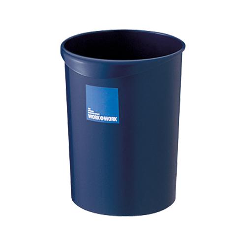 (まとめ) ゴミ箱 リス WORK&WORK 屑入れ ダークブルー GGYC634 4971881094593 ●外寸:径232(底180)×高275mm●容量:8.1l 1個【20×セット】