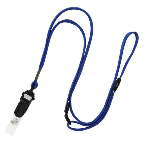 (まとめ) 名札用ストラップ オープン ループクリップ 青 NB-50-BU 4970115548598 1袋【5×セット】