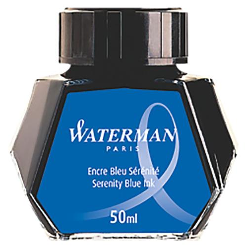 (まとめ) インク ウォーターマン ボトルインク セレニティブルー S0110720 (S2270130) 3034325106298 1個【10×セット】