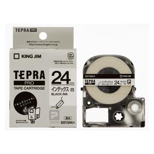 (まとめ) テプラテープ キングジム 「テプラ」PRO SRシリーズ専用テープカートリッジ SSY24K 4971660761159 ●24mm幅 1個【10×セット】