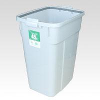 (まとめ) ゴミ箱 セキスイ エコポリペール角型 グレー PEK45H 4580167560662 ●外寸:幅340×奥475×高570mm●容量:45l 1個【5×セット】