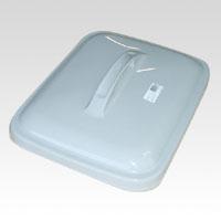 (まとめ) ゴミ箱 セキスイ エコポリペール角型 グレー PEKF4H 4580167560617 ●外寸:幅345×奥430×高95mm●仕様:45l用 1個【20×セット】