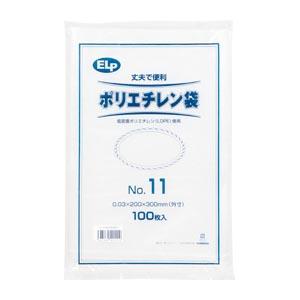 (まとめ) ポリエチレン袋 シモジマ ELPポリエチレン規格袋 006999511 4547432421110 1袋【50×セット】