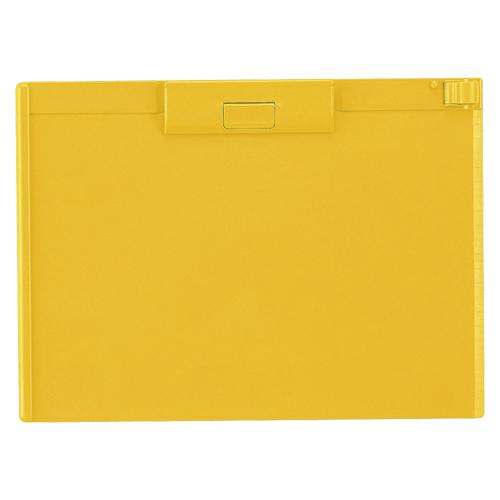 (まとめ) クリップボード リヒトラブ クリップボード ABS製 黄色 A-987U-5 4903419836238 1枚【20×セット】