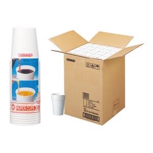 生活用品 家電 タイムセール 紙コップ ホワイトカップ まとめ サンナップ 1個 容量:205ml 100×セット C2030EX 4901627034309 物品 205ml