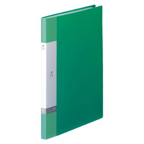 (まとめ) クリヤーファイル(ポケット溶着式) リヒトラブ リクエスト・クリヤーブック 緑 G3201-7 4903419348847 1冊【50×セット】