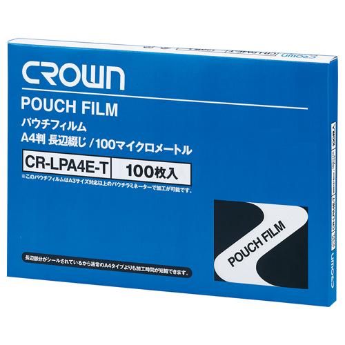 (まとめ) パウチフィルム クラウン パウチフィルム CR-LPA4E-T 4953349020153 1箱【5×セット】