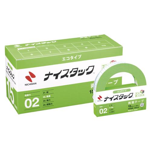 (まとめ) 両面テープ ニチバン ナイスタック[TM]エコタイプ NWBB-15ECO 4987167054861 ●寸法:幅15mm×長20m 1箱【5×セット】