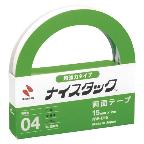 (まとめ) 両面テープ ニチバン ナイスタック[TM]超強力タイプ NW-U15 4987167054892 ●寸法:幅15mm×長2m 1個【20×セット】