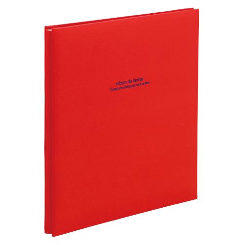 (まとめ) フォトアルバム ナカバヤシ 100年台紙アルバム レッド アH-LD-191-R 4902205306306 1冊【5×セット】