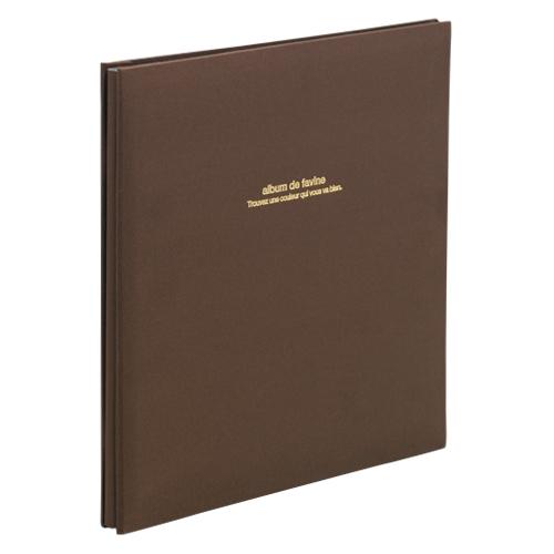 (まとめ) フォトアルバム ナカバヤシ 100年台紙アルバム ブラウン アH-LD-191-S 4902205306320 1冊【5×セット】