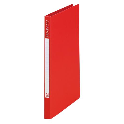 (まとめ) Zファイル ビュートンジャパン クランプファイル レッド SCL-A4-R 4996297200000 1冊【50×セット】