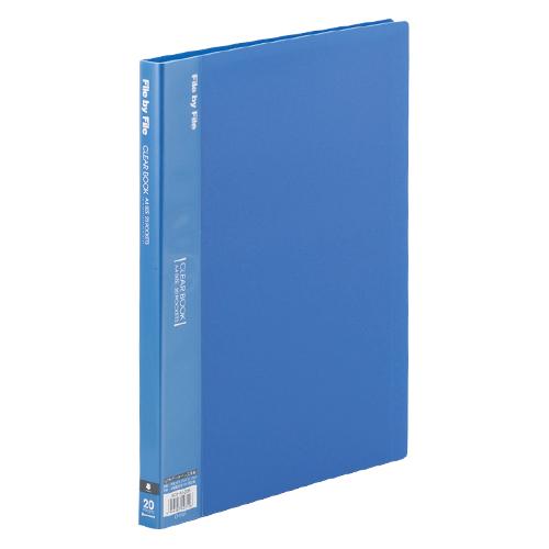 (まとめ) クリヤーファイル(ポケット溶着式) ビュートンジャパン クリヤーブック ブルー BCB-A4-20B 4996297407126 1冊【50×セット】