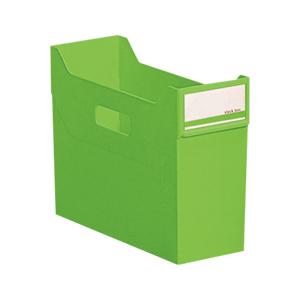 (まとめ) ファイリングボックス リヒトラブ リクエスト スタックボックス 黄緑 G1600-6 4903419841454 1個【20×セット】