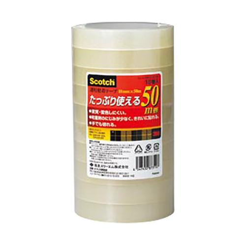(まとめ) クリアーテープ スリーエム スコッチ[R] 透明粘着テープ 500シリーズ 500-3-18-10P 4547452873197 ●寸法:幅18mm×長50m 1個【10×セット】