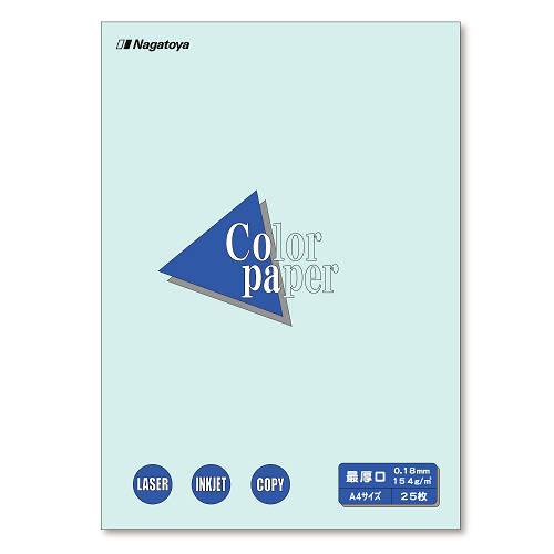 (まとめ) コピー用紙(カラー用紙) Nagatoya カラーペーパー 水色 ナ-3510 4961411735102 1冊【30×セット】