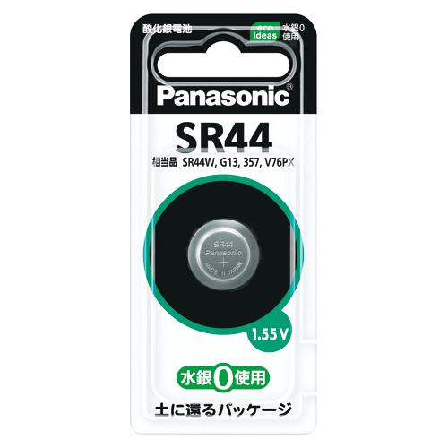 (まとめ) ボタン電池 パナソニック 酸化銀電池 SR44P 4902704241665 1個【20×セット】