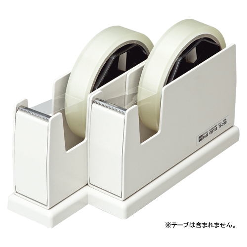 (まとめ) テープカッター オープン ペアカッター ホワイト TD-200-WH 4970115557682 1台【5×セット】