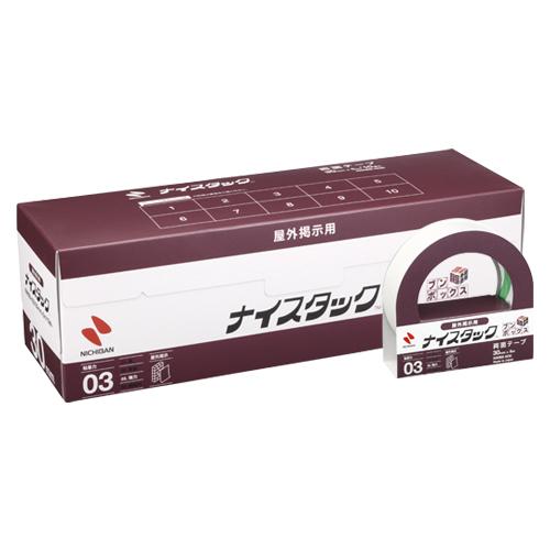 (まとめ) 両面テープ ニチバン ナイスタック[TM]屋外掲示用 NWBB-N30 4987167063573 ●寸法:幅30mm×長5m 1箱【5×セット】