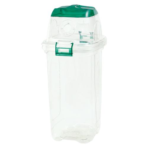 (まとめ) 分別用ゴミ箱 セキスイ 透明エコダスター 緑 TPDC45G 4580167563472 ●用途:ペットボトルキャップ用 1個【5×セット】