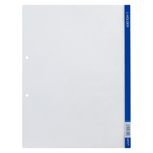 ファイル ケース 穴付きクリヤーホルダー 上等 Lホルダー スーパーセールでポイント最大44倍 まとめ 730アオ 青 100×セット キングジム 1着でも送料無料 1枚 4971660332106