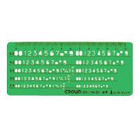 (まとめ) テンプレート クラウン テンプレート CR-TN30-G 4953349072121 ●サイズ:縦60×横140×厚1mm 1枚【10×セット】