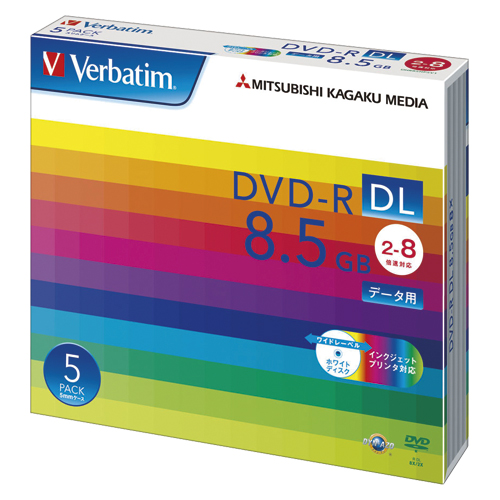 (まとめ) DVD-R 三菱ケミカルメディア PC DATA用 DVD-R DL パソコンデータ用大容量1回記録タイプ(2層式) DHR85HP5V1 4991348061265 1個【10×セット】