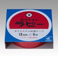 (まとめ) 包装テープ セメダイン ラピー 赤 TP-258 4901761112482 ●寸法:幅18mm×長8m 1巻【50×セット】