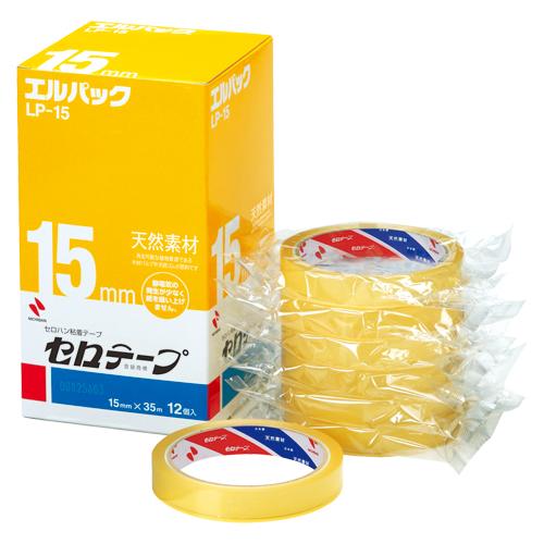 (まとめ) セロハンテープ ニチバン セロテープ[R]エルパック[TM] お得用包装 LP-15 4987167000455 ●寸法:幅15mm×長35m 1箱【5×セット】
