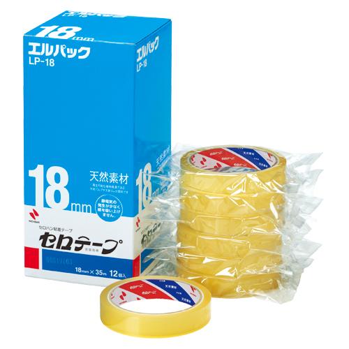 (まとめ) セロハンテープ ニチバン セロテープ[R]エルパック[TM] お得用包装 LP-18 4987167000462 ●寸法:幅18mm×長35m 1箱【5×セット】