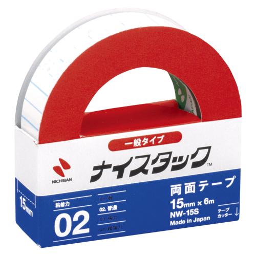 (まとめ) 両面テープ ニチバン ナイスタック[TM]一般タイプ NW-15S 49572711 ●寸法:幅15mm×長6m 1個【50×セット】