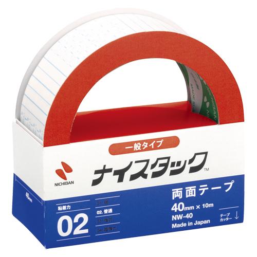 (まとめ) 両面テープ ニチバン ナイスタック[TM]一般タイプ NW-40 4987167000189 ●寸法:幅40mm×長10m 1個【20×セット】
