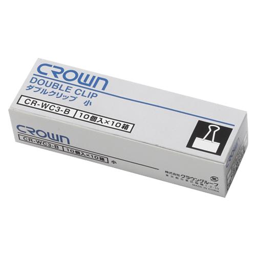 (まとめ) クリップ クラウン ダブルクリップ CR-WC3X10-B 4953349055483 ●規格:小●クリップ幅:19mm●綴じ枚数:約60枚 1箱【20×セット】