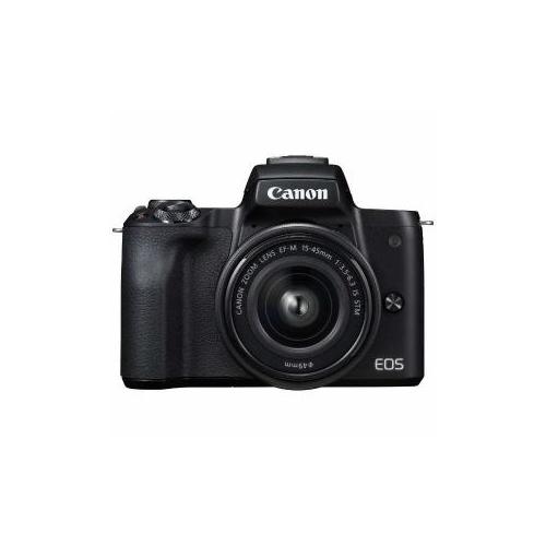 CANON ミラーレス一眼カメラ 「EOS Kiss M」 EF-M15-45 IS STM レンズキット (ブラック) EOSKISSMBK-1545ISSTM