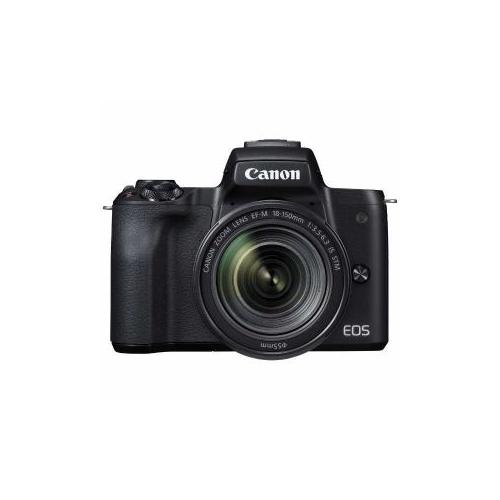 CANON ミラーレス一眼カメラ 「EOS Kiss M」 EF-M18-150 IS STM レンズキット (ブラック) EOSKISSMBK-18150ISST