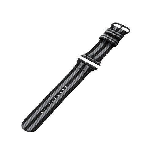 エレコム Apple Watch 44 42mm ファブリックバンド ボンドストライプ AW-44BDNATSJB:インテリアの壱番館