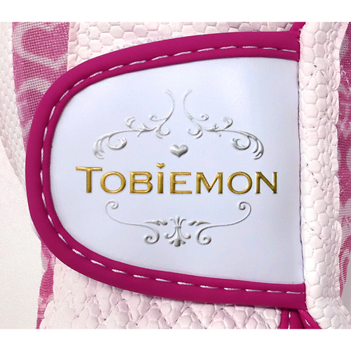 5個セット TOBIEMON R&A公認レディース ストレッチグローブ ホワイトピンク Sサイズ T-LG-SX5