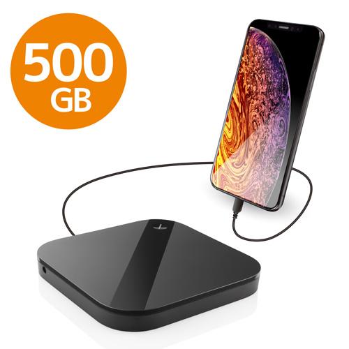 エレコム ELECOM Portable Drive USB3.0 500GB Black スマートフォン用 ELP-SHU005UBK