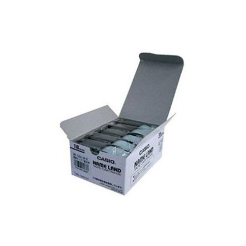 【スーパーセールでポイント最大44倍】CASIO ネームランド(NAME LAND) スタンダードテープ (透明テープ/黒文字/18mm幅・5本入) XR-18X-5P-E