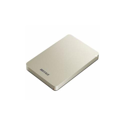 BUFFALO ポータブルHDD ゴールド 1TB HD-PGF1.0U3-GLA