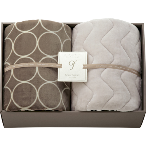 ハイソフトタッチマイヤー毛布&吸湿発熱綿入り敷パット B5171075